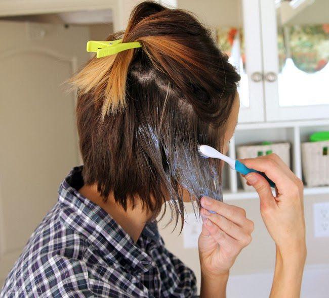 Как покрасить короткие волосы в домашних условиях самому себе 835