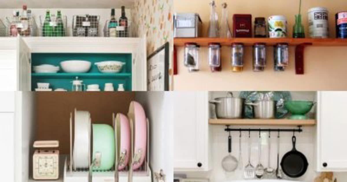Секретные места для хранения в маленькой кухне