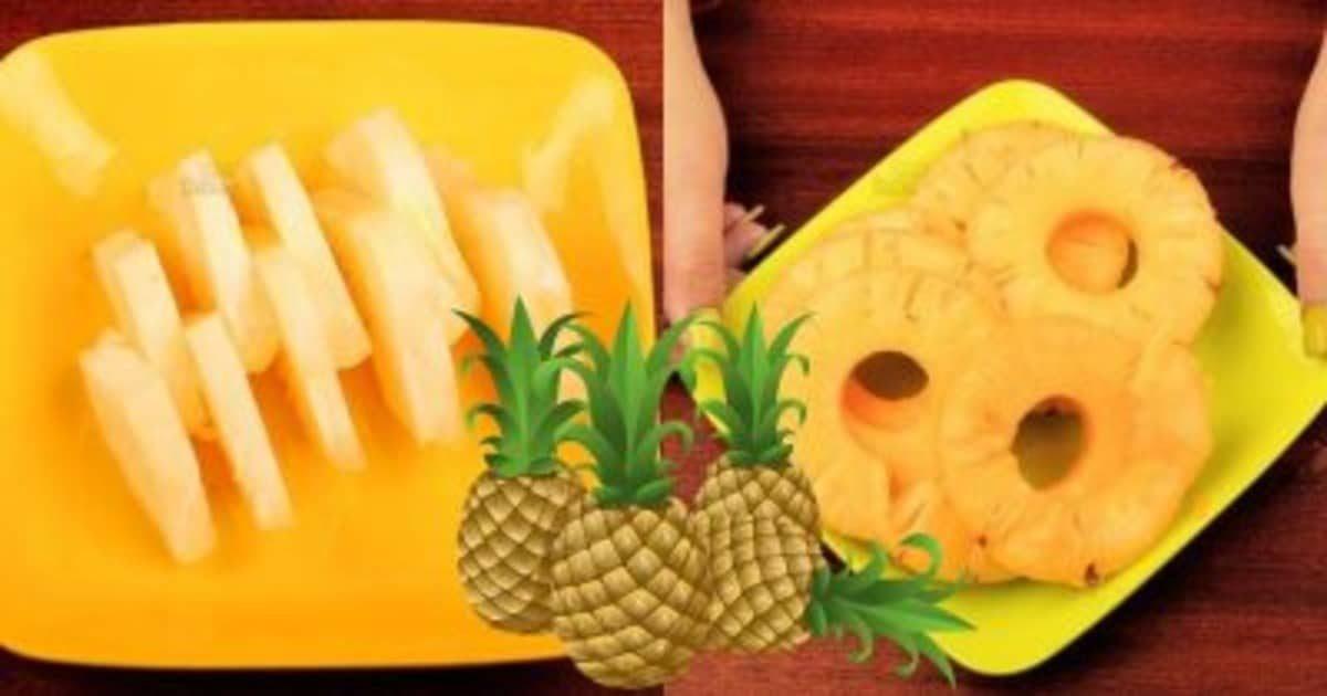 2 способа быстро почистить и красиво подать ананас