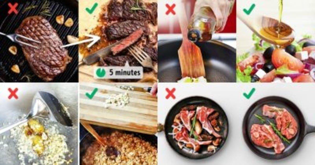 Ошибки в приготовлении пищи, которые портят вкус блюд