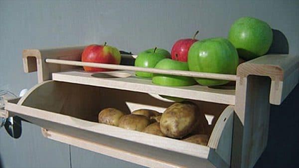картошка и яблоки