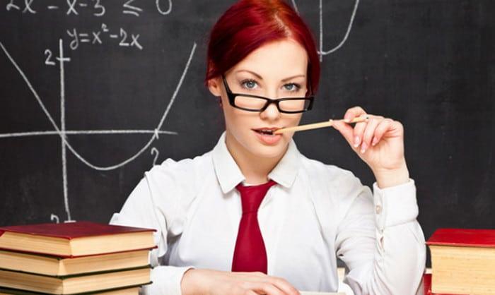 учительница с указкой