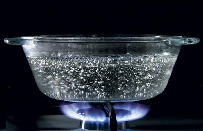 вода греется на газу