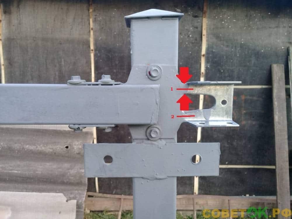 x kronshtejn лага держится на двух маленьких полосках металла