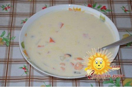 Крем суп из морепродуктов Как приготовить крем-суп