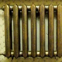 Окраска батареи отопления под старину