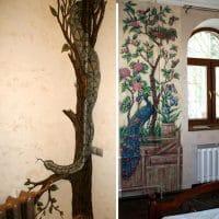 Примеры художественного декорирования труб отопления