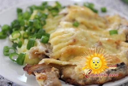 Грибы со сметаной Грибы в духовке Блюда из грибов