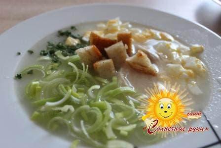 Суп куриный с рисом Рецепт куриный суп