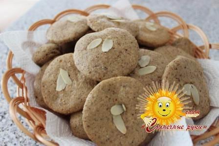 Печенье миндальное, печенье домашнее, печенье миндальное рецепт