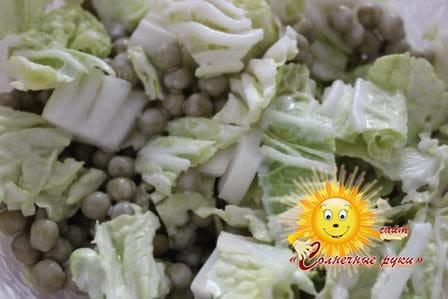 Салат с зеленым горошком Быстрые салаты Простые салаты