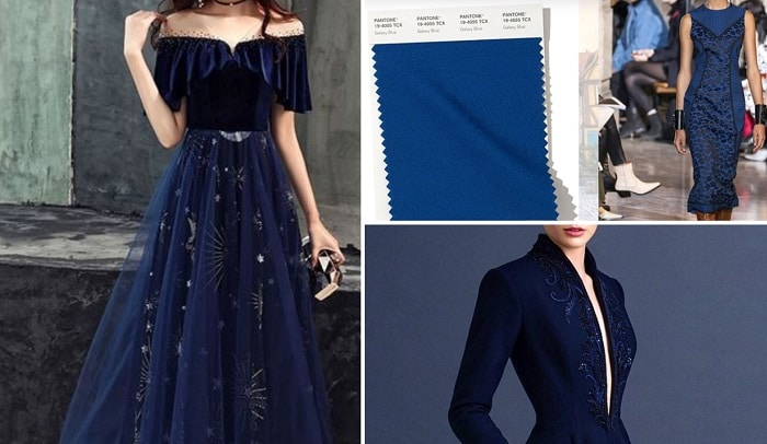 синий в одежде