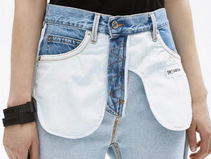 джинсы шиворот-навыворот