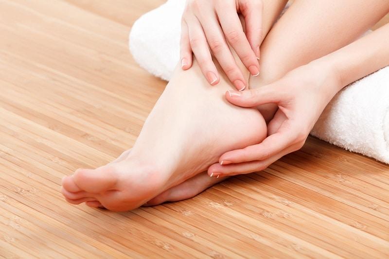 массаж ног техника