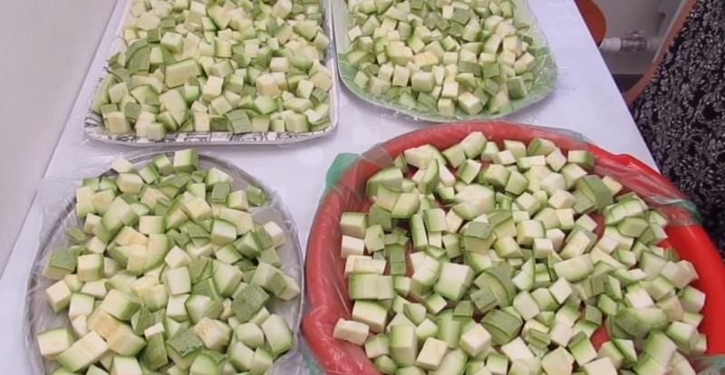как заморозить кабачки на зиму свежими