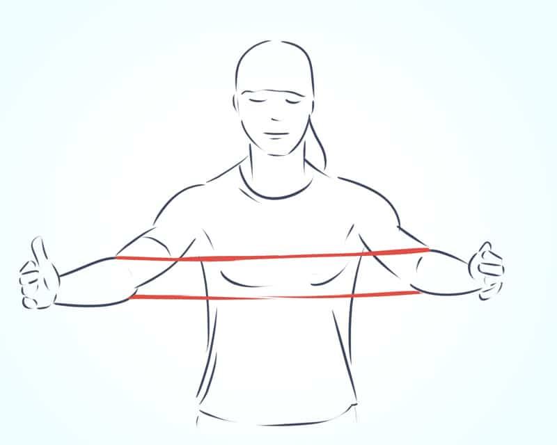 упражнения с фитнес резинкой на все группы мышц