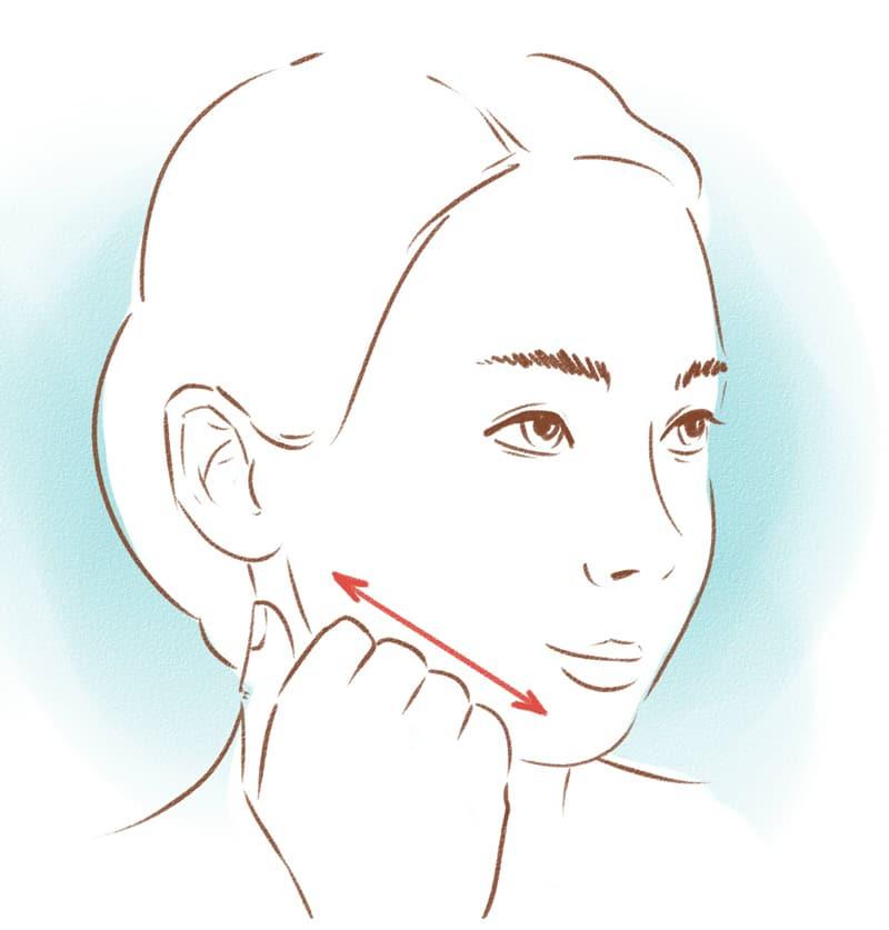 массаж для лица самостоятельно
