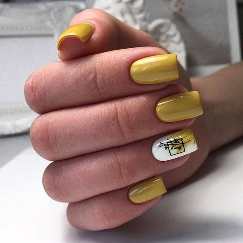 стильный маникюр на длинные ногти
