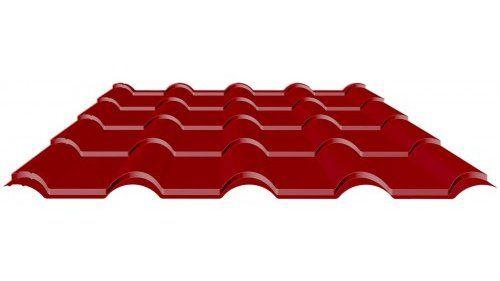 красная металлочерепица