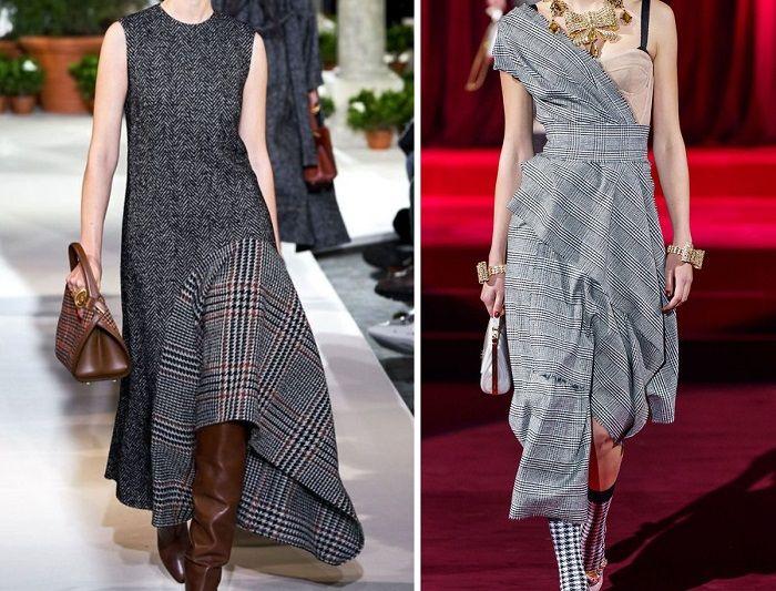 теплые стильные платья