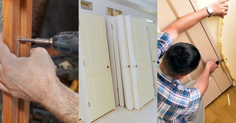 установка межкомнатных дверей без пены