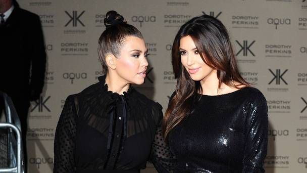 Kourtney Kardashian takes swipe at sister Kim as family impersonate each other