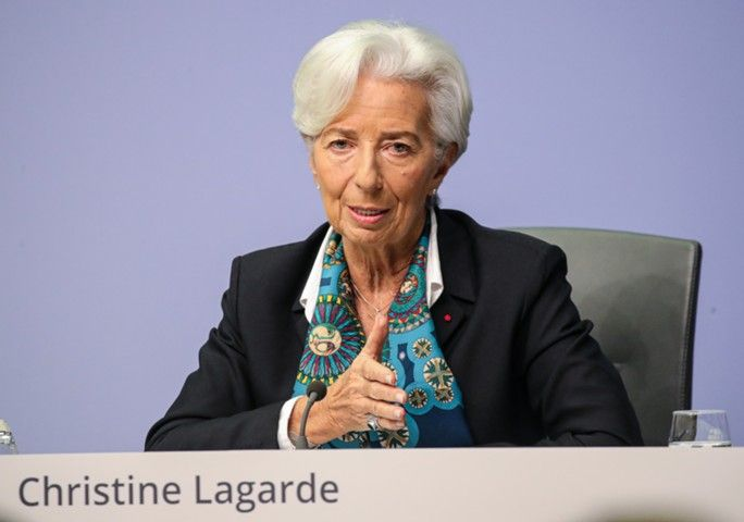 Трансляция пресс-конференции главы ЕЦБ Кристин Лагард